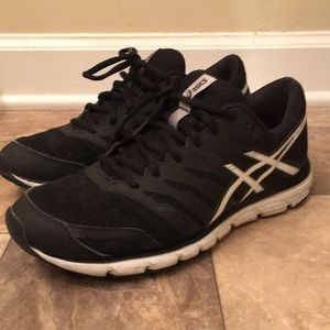 Women's ASICS Black Athletic Sport Sneakers